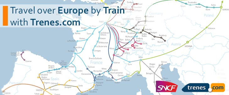 Travel over Europe by Train with Trenes.com